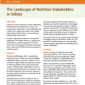 The Landscape of Nutrition Stakeholders in Odisha