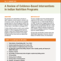 A Review of Evidence-Based Interventions in Indian Nutrition Programs