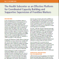 The Health Subcenter as an Effective Platform for Coordinated Capacity Building and Supportive Supervision of Frontline Workers