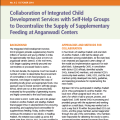 Collaboration of Integrated Child Development Services with Self-Help Groups to Decentralize the Supply of Supplementary Feeding at Anganwadi Centers