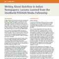 Writing About Nutrition in Indian Newspapers: Lessons Learned from the OneWorld POSHAN Media Fellowship
