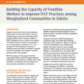 Building the Capacity of Frontline Workers to Improve IYCF Practices among Marginalized Communities in Odisha