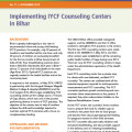 Implementing IYCF Counseling Centers in Bihar