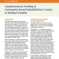 Complementary Feeding in Community-Based Rehabilitation Centers in Madhya Pradesh