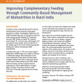 Improving Complementary Feeding through Community-Based Management of Malnutrition in Rural India