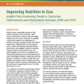 Improving Nutrition in Goa: Insights from Examining Trends in Outcomes, Determinants and Interventions between 2006 and 2016