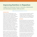 Improving Nutrition in Rajasthan: Insights from Examining Trends in Outcomes, Determinants and Interventions between 2006 and 2016