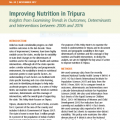 Improving Nutrition in Tripura: Insights from Examining Trends in Outcomes, Determinants and Interventions between 2006 and 2016