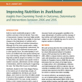 Improving nutrition in Jharkhand: Insights from examining trends in outcomes, determinants and interventions between 2006 and 2016