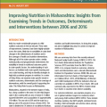 Improving nutrition in Maharashtra: Insights from examining trends in outcomes, determinants and interventions between 2006 and 2016