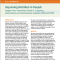 Improving Nutrition in Punjab: Insights from Examining Trends in Outcomes, Determinants and Interventions between 2006 and 2016