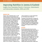 Improving nutrition in Jammu & Kashmir: Insights from examining trends in outcomes, determinants and interventions between 2006 and 2016