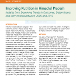 Improving nutrition in Himachal Pradesh: Insights from examining trends in outcomes, determinants and interventions between 2006 and 2016