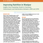 Improving Nutrition in Manipur: Insights from Examining Trends in Outcomes, Determinants and Interventions between 2006 and 201
