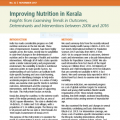 Improving Nutrition in Kerala: Insights from Examining Trends in Outcomes, Determinants and Interventions between 2006 and 2016