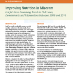 Improving Nutrition in Mizoram: Insights from Examining Trends in Outcomes, Determinants and Interventions between 2006 and 2016