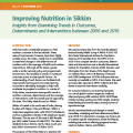 Improving Nutrition in Sikkim: Insights from Examining Trends in Outcomes, Determinants and Interventions between 2006 and 2016